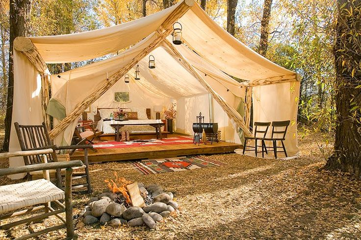 If It's Hip, It's Here: Glamping. Forget Roughing It, Camp In Style. Luxury Tents In Jackson Hole.