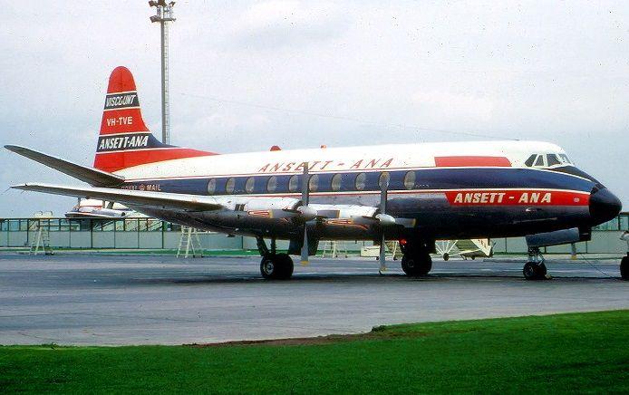 Ansett ANA Vickers Viscount 720 (VH-TVE)