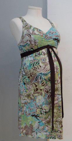 Bellysima Maternity - Sleeveless Multi Colour Floral Print Dress