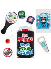 Happy Retirement Celebration Survival Kit 6pc gag gift, probably not interested but pinning in case