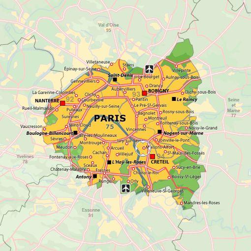 Carte De Localisation De Maisons Alfort Val De Marne Ile De France