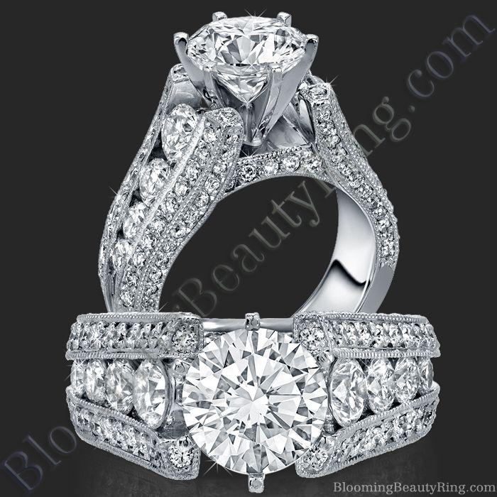 The High Class Escalating Split Shank Diamond Engagement Ring - bbr392
