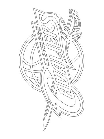 Cleveland Cavaliers Logo coloring page from NBA category. Select from 20946 printable crafts of cartoons, nature, animals, Bible and many more.