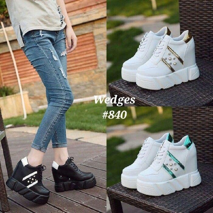 Sepatu Wedges Korea 840 Tinggi 11cm Berat 850gram 3 Wrn Gold
