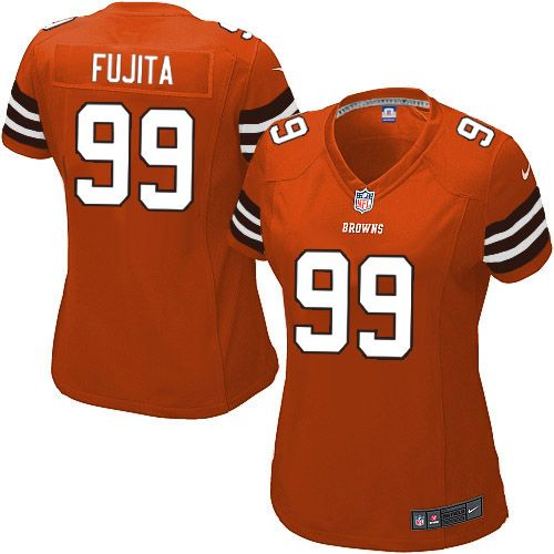 7e7ecac7a72 ... Women Nike Cleveland Browns 99 Scott Fujita Game Orange Alternate NFL  Jersey Sale ...