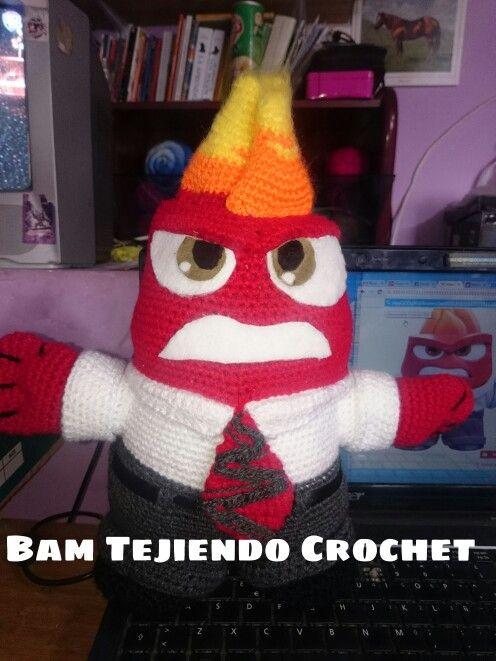 30 cm de Furia Intensamente #crochet #insideout  #Furia