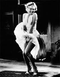 The Seven Year Itch | Marilyn Monroe | 1955 | Floaty white halterneck dress made this subway grate scene #mafash14 #bocconi #sdabocconi #mooc #fashion #luxury #costume #movie #tvseries