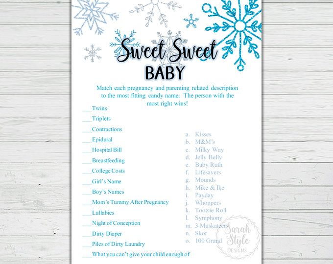 Instant Download-#BS09 Winter Baby Shower Games Gender Neutral Winter Wonderland Baby Shower Games Bundle Snowflakes Baby Shower Games