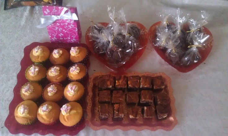 Home made Banana cupcakes, marbled brownies and rocky road : )