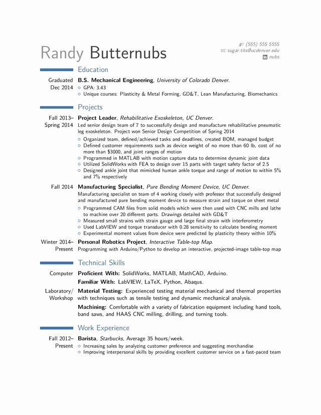 25 Entry Level Mechanical Engineering Resume In 2020