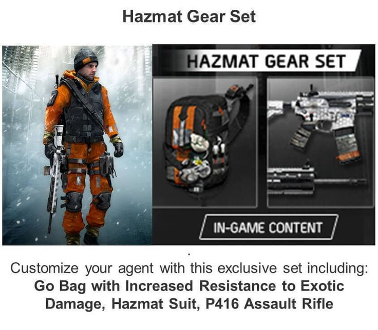 TOM CLANCY'S THE DIVISION HAZMAT PACK Pre Order Bonus PS4  http://searchpromocodes.club/tom-clancys-the-division-hazmat-pack-pre-order-bonus-ps4/