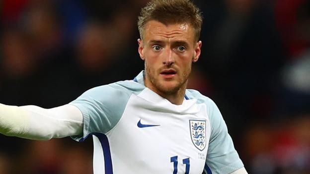 """Jamie Vardy has scored six goals in 16 appearances for England Striker Jamie Vardy has withdrawn from the England squad for Saturday's World Cup qualifier against Scotland at Hampden with a """"minor injury"""". The 30-year-old will also miss the friendly in France on 13 June. A..."""