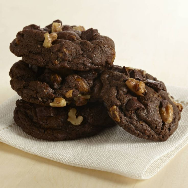 Satisfy your #chocolate craving with big chunks of semi-sweet chocolate in a rich chocolate #cookie. #recipe #baking #holiday