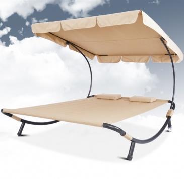 Wie auf Wolken schweben auf der Sonnenliege von Jago24.de | Double bed sunlounger with canopy