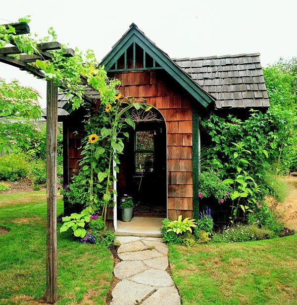 Cedar shingle shed project plan 503486 gardens a well for How to shingle a shed