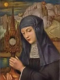 St. Juliana of Cornillon: Historically today is the feast of Saint Juliana of Cornillon, also known as Juliana of Liege, who was a medieval Norbertine canoness regular and mystic in what is now Belgium. She has long been recognized as the promoter of the Feast of Corpus Christi. #Catholic #Pray
