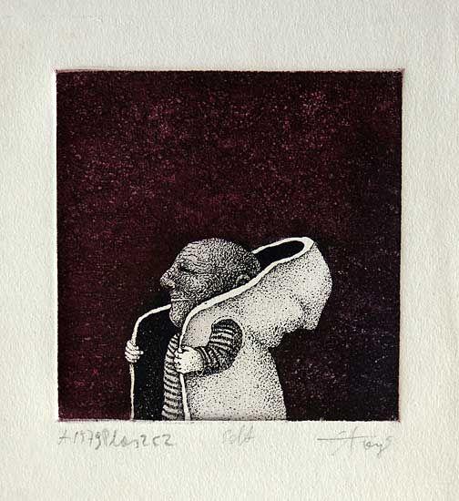 Etching by Stasys Eidrigevicius