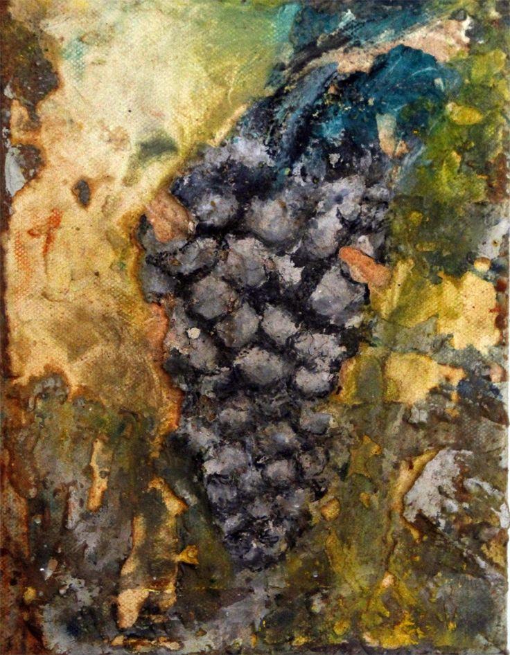 A paz entre as uvas II, original Nature Canvas Painting by Alexandre Rola