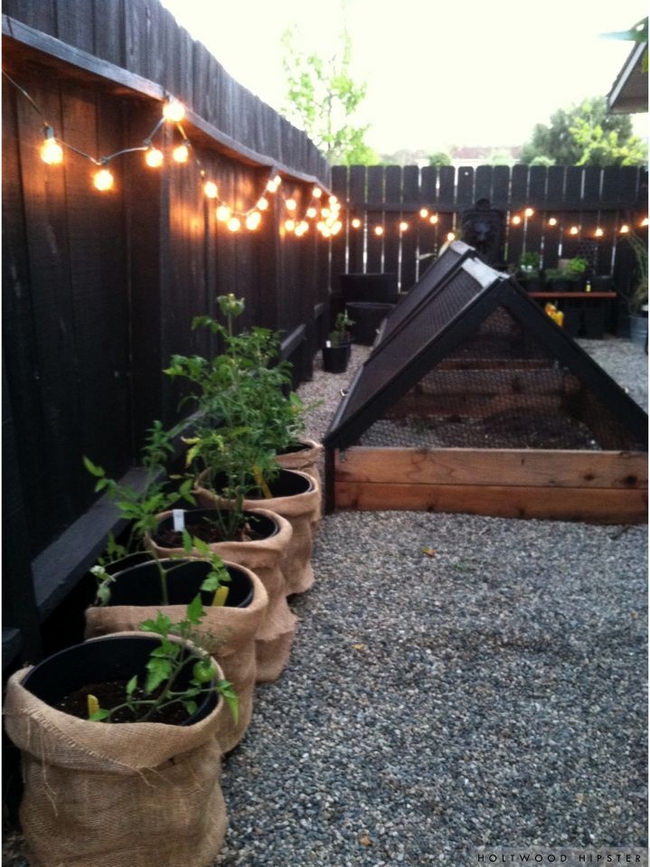 Holtwood Hipster: Holtwood House // Edibles Garden Progress | Raised Garden Beds, String Lights in the Garden