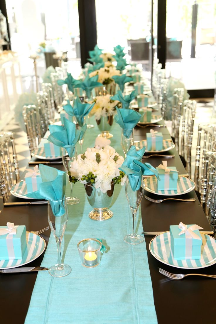 tiffany blue and black wedding decorations%0A tiffany and co baby shower decorations