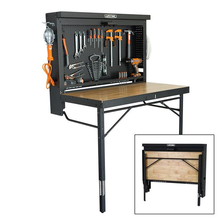 Wall Mounted Folding Work Table