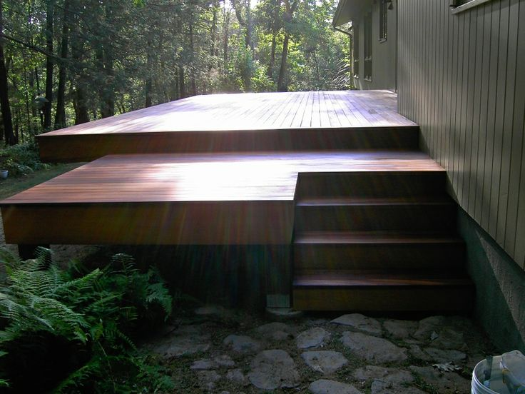 wooden deck, love the simple lines.