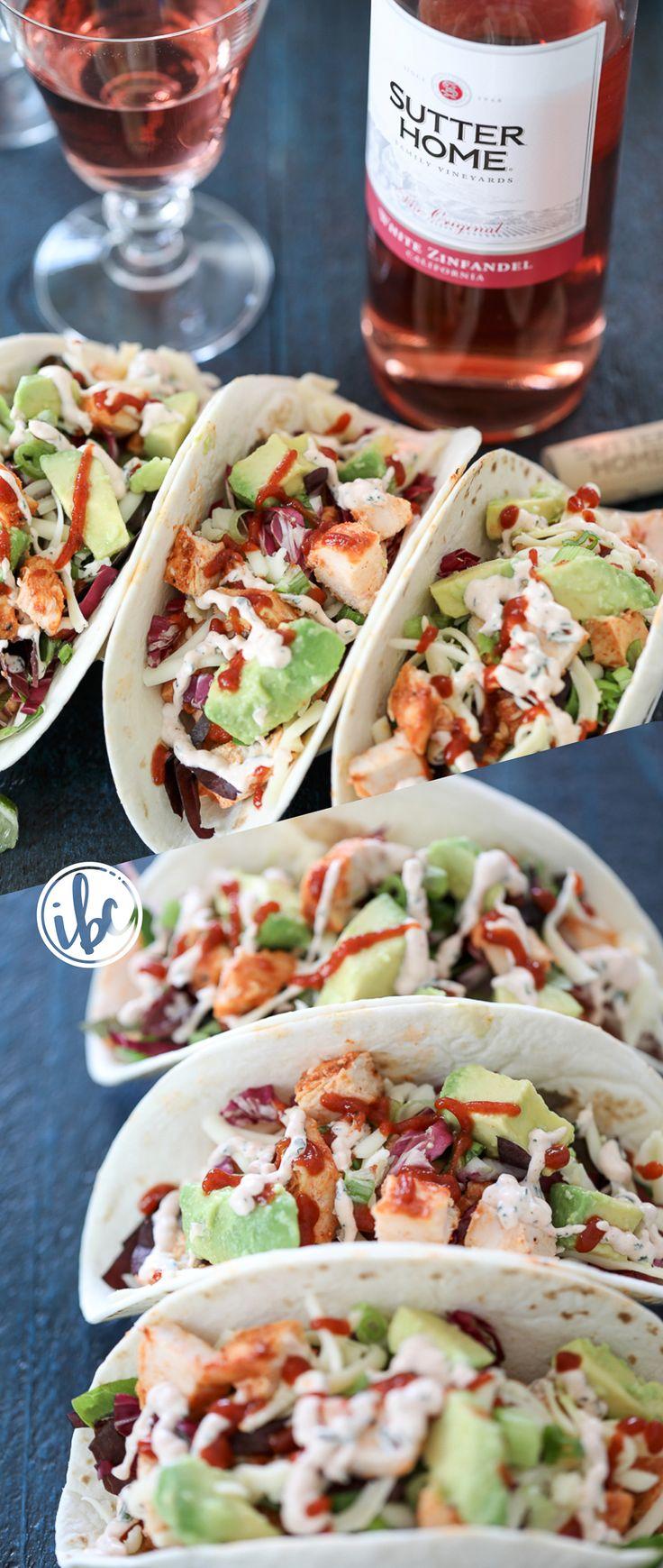 Sriracha Chicken Tacos - Cinco de Mayo - taco tuesday - sriracha recipe - chicken tacos with avocado