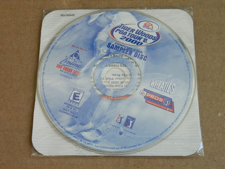 NEW AND SEALED America Online AOL CD Disk version TIGER WOODS PGA TOUR (ZA)