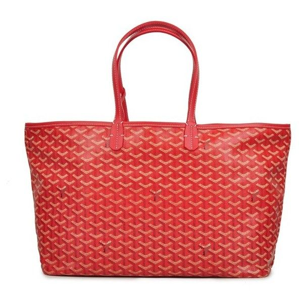 Goyard Classic St Louis PM Tote Handbag Red ❤ liked on Polyvore featuring bags, handbags, tote bags, goyard, goyard handbags, goyard tote, red tote purse and goyard purse