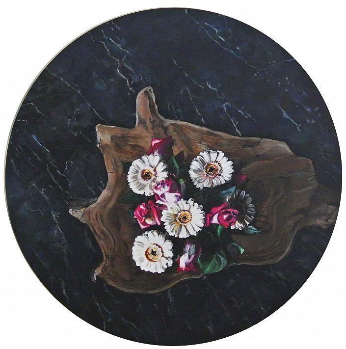 Ute Latzke: Flowers on Marble. #Acryl auf Leinwand #bouquet #Muschel #Marmor #marble #flowers #Arrangement #Rosen #utelatzke @utelatzke #Malerei #painting #startyourart www.startyourart.de