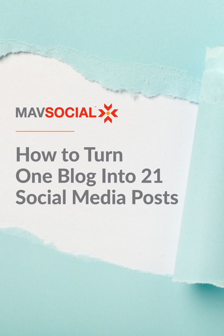 21 Social media posts from one blog via @mavsocial
