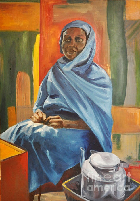 """tea lady"" #art by Martina Anagnostou"