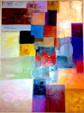 "Saatchi Art Artist Ana Domnguez ; Painting, ""Modern life: Paul Klee inspired series I"" #art"