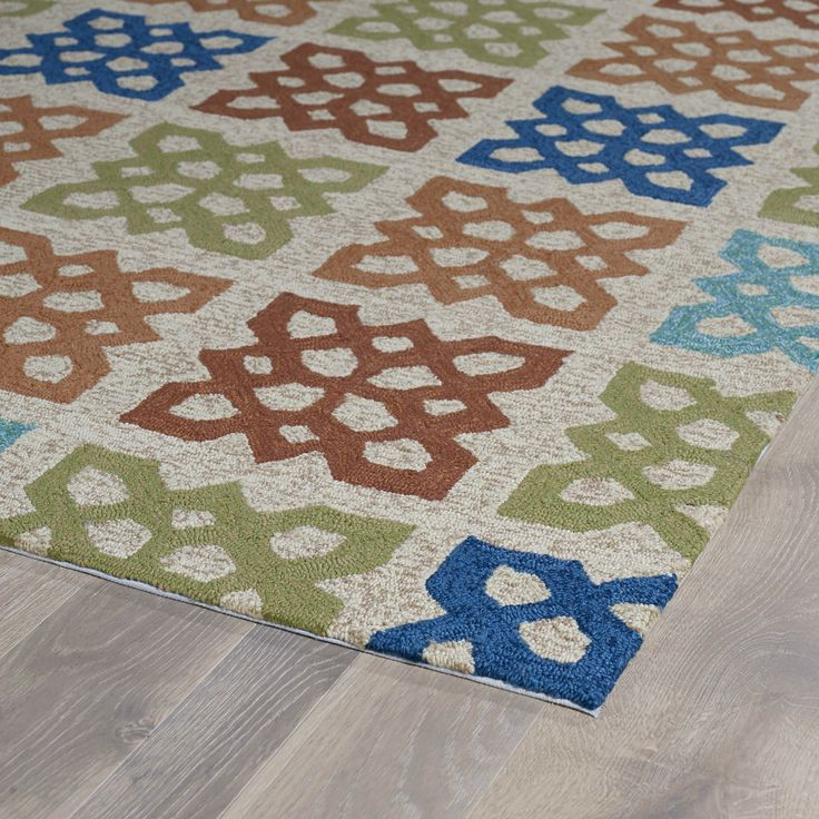 This exciting new home porch geometric color block area for Bright blue area rug