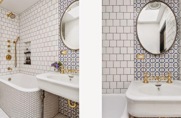 Bathroom Penny Tile Clic Design Html on
