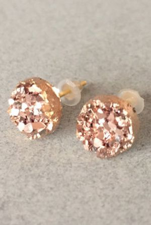 pretty druzy stud earrings