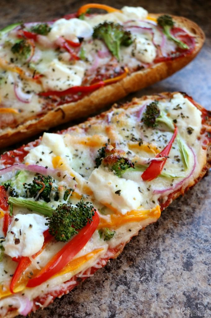 Hot & Fresh Loaded Veggie French Bread Pizza
