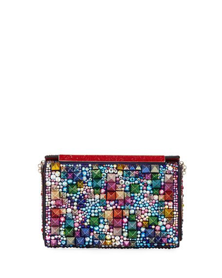 Christian Louboutin Vanite Small Beaded Clutch Bag at Bergdorf Goodman #louboutin #beads #clutches #handbags #purses #designer #fashion #quirky #fun #colorful