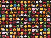 Timeless Treasures black fun Smiley App