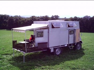 Overland Camper with a deck! How cool is that.