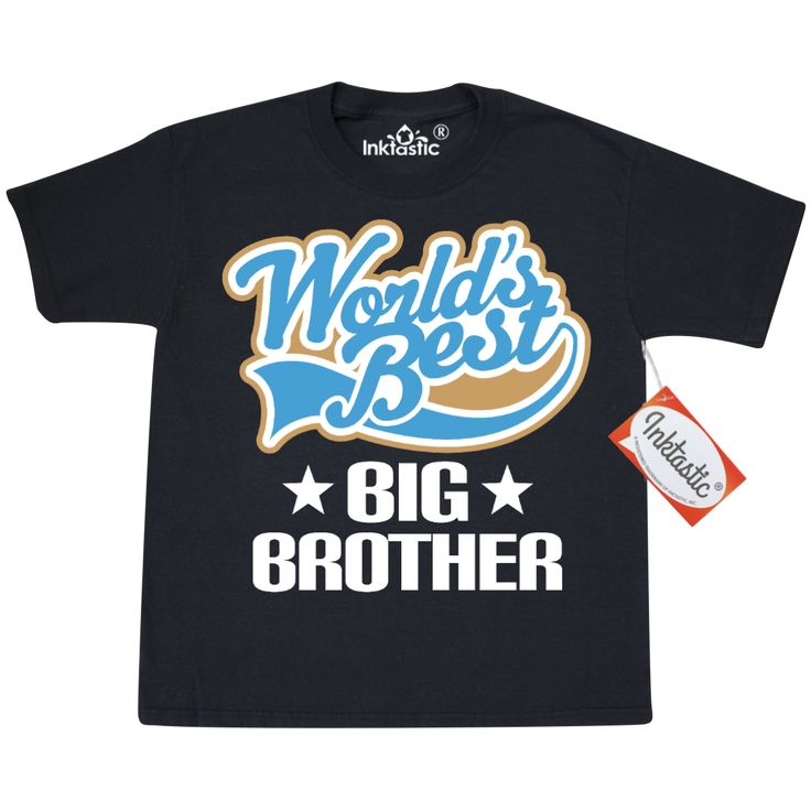 Worlds Best Big Brother Youth T-Shirt Black $14.99 www.homewiseshopperkids.com