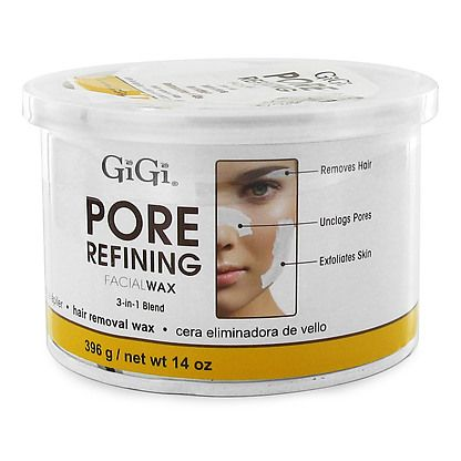 GiGi Pore Refining Facial Wax is a unique wax designed to exfoliate the skin as well as gently removing facial hair and stubborn blackheads.