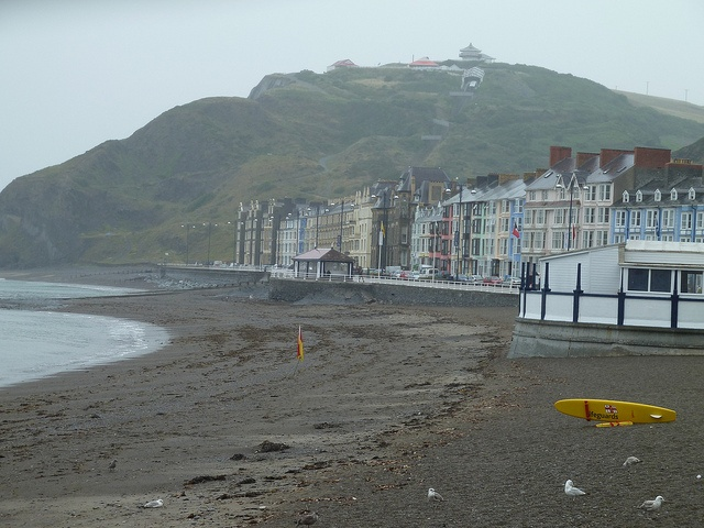 Aberystwyth, Wales. Typical British weather too...