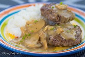 This Jollibee Inspired Burger Steak with Mushroom Gravy is one of the simplest Filipino Salisbury steak recipe that you can try.