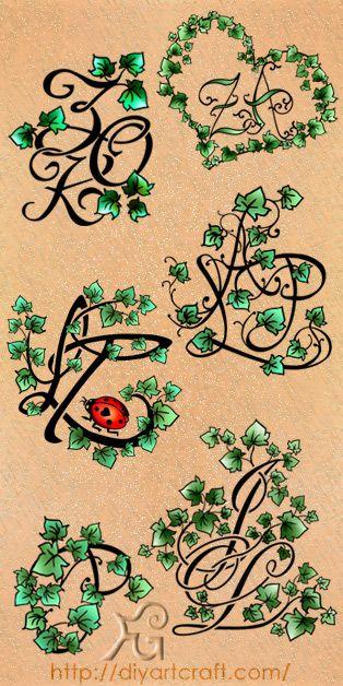 #ivy #monogram #tattoo