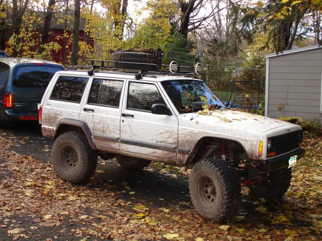 lifted xj with roof rack | XJ roof rack for sale w/ hellas and hi-lift - NAXJA Forums -::- North ...