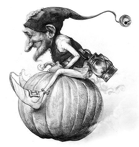 In the world of weird wunderkins, pumpkin powered-personalities rule! - Jean-Baptiste Monge illustration