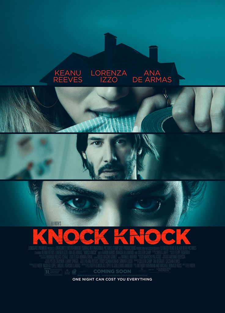 Knock Knock Poster with Keanu Reeves, Lorenza Izzo | Collider