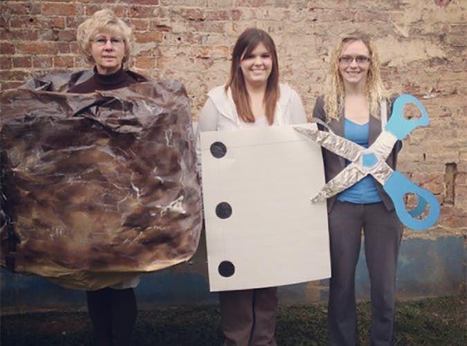 Rock Paper Scissors funny Halloween costume idea