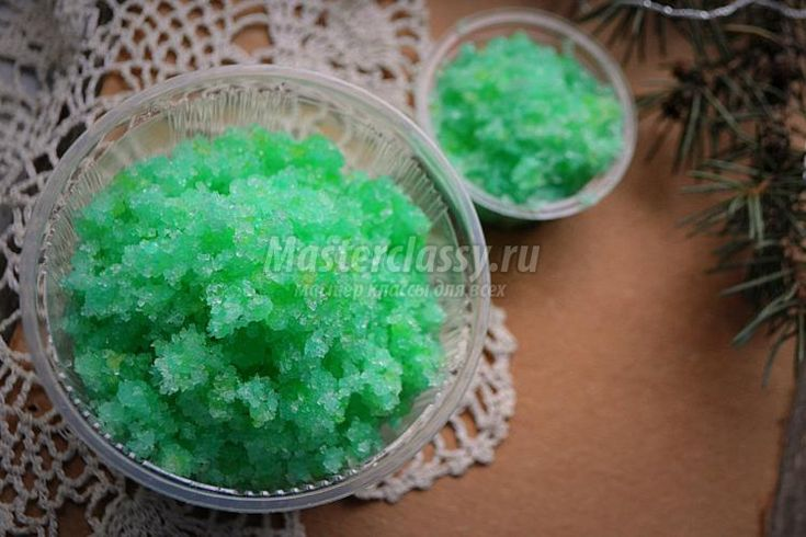 сахарно-соляной скраб своими руками